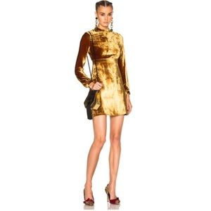 ALC Gemma Gold Velvet Dress